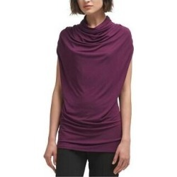 DKNY Womens Solid Sleeveless Blouse Top, Purple, X-Small (Purple - XS), Women's(viscose) found on Bargain Bro Philippines from Overstock for $31.07