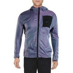 Reebok Mens Night Run Track Jacket Fitness Running - Purple Delirium (2XL), Men's(polyester) found on Bargain Bro Philippines from Overstock for $51.64