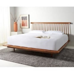 Safavieh Couture Elliott Farmhouse Wood Spindle Bed found on Bargain Bro from Overstock for USD $1,252.47