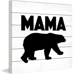 Marmont Hill - Handmade Mama Bear Black Painting Print on White Wood found on Bargain Bro Philippines from Overstock for $191.99