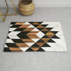 Urban Tribal Pattern No.9 - Aztec - Concrete And Wood Modern Throw Rug by Zoltan Ratko - 2' x 3' found on Bargain Bro from Society6 for USD $27.93