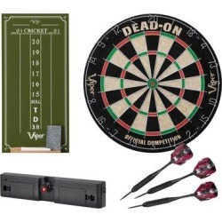 Viper Dead-On Bristle Dartboard w/ Darts in Gray, Size 20.0 H x 20.0 W x 4.0 D in   Wayfair 40-9004 found on Bargain Bro Philippines from Wayfair for $87.62