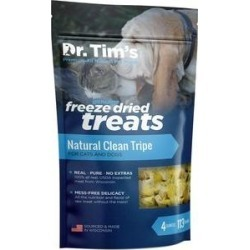 Dr. Tim's Natural Clean Tripe Genuine Freeze-Dried Dog & Cat Treats, 4-oz bag found on Bargain Bro from Chewy.com for USD $11.24