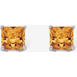 Women's Sterling Silver Stud Princess Cut Simulated Birthstone Stud Earrings by PalmBeach Jewelry in November found on Bargain Bro Philippines from Ellos for $22.99