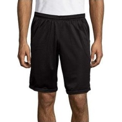 Hanes Sport Men's Mesh Pocket Shorts (Ebony - L)(polyester) found on Bargain Bro from Overstock for USD $14.47