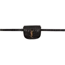 Black Croc Kaia Belt Bag - Black - Saint Laurent Belt Bags found on Bargain Bro India from lyst.com for $945.00