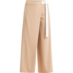 Wide Leg Wrap Trousers In Tan & White - Brown - Paisie Pants found on MODAPINS from lyst.com for USD $181.00