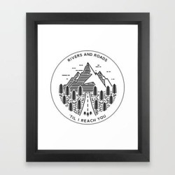 Rivers And Roads Framed Art Print by Madedesigns - Vector Black - X-Small-10x12 found on Bargain Bro India from Society6 for $35.19