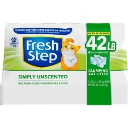 Fresh Step Simply Unscented Clumping Cat Litter, 42 lbs. found on Bargain Bro Philippines from petco.com for $19.99