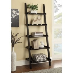 Transitional Cappuccino 5-shelf Bookcase found on Bargain Bro from Overstock for USD $100.31