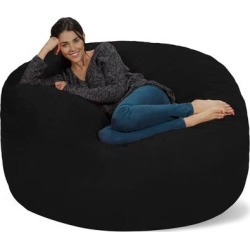 Bean Bag Chair 5-foot Memory Foam Removable Cover Bean Bags found on Bargain Bro from Overstock for USD $190.14