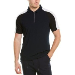 Karl Lagerfeld Colorblocked Rib Polo Shirt found on MODAPINS from Overstock for USD $80.99