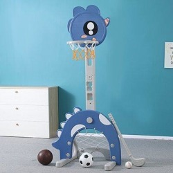 SUNNOW 4 In 1 Adjustable Basketball Hoop Stand w/ Basketball/Ring Toss/Soccer/Goal, Size 64.5 H x 18.1 W x 18.1 D in   Wayfair found on Bargain Bro Philippines from Wayfair for $58.39