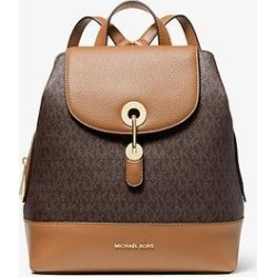 Michael Kors Raven Medium Logo and Pebbled Leather Backpack Brown One Size found on Bargain Bro Philippines from Michael Kors for $328.00