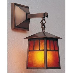 Arroyo Craftsman Raymond 11 Inch Tall 1 Light Outdoor Wall Light - RB-6-CS-RC found on Bargain Bro from Capitol Lighting for USD $246.24