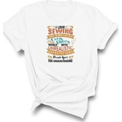 I Love Sewing T-Shirt (S - White), Adult Unisex found on Bargain Bro India from Overstock for $24.99