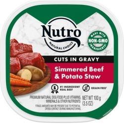 Nutro Grain Free Cuts in Gravy Simmered Beef & Potato Stew Wet Dog Food, 3.5 oz., Case of 24, 24 X 3.5 OZ