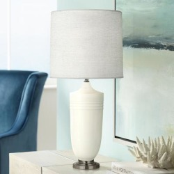 Michael Berman Hadrian Nickel and Lily Ceramic Table Lamp found on Bargain Bro Philippines from LAMPS PLUS for $300.50