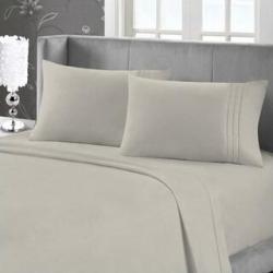 Maison Condelle - Bamboo Softness Bed Sheet Set (Linen - Full) found on Bargain Bro from Overstock for USD $24.27