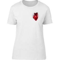 Corner Human Heart Tee Men's -Image by Shutterstock (S), White found on Bargain Bro from Overstock for USD $10.63