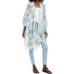 Jasmine Cotton & Silk Ruana - Blue - AllSaints Coats found on Bargain Bro India from lyst.com for $138.00
