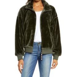 UGG Laken Mock Neck Fleece Jacket - Green - Ugg Jackets found on Bargain Bro from lyst.com for USD $97.28