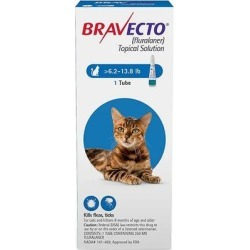 Bravecto Spot On For Medium Cats 6.2 - 13.8 Lbs (Blue) 1 Pack found on Bargain Bro Philippines from Canadapetcare.com for $39.65