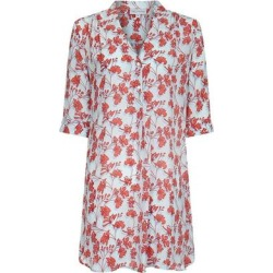 Silk Decima Dress Flamboyant Flower - Blue - Pink House Mustique Dresses found on Bargain Bro from lyst.com for USD $452.96