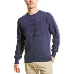 Superdry Premium Goods Embossed Debossed Sweatshirt (M), Men's, Blue(cotton) found on Bargain Bro Philippines from Overstock for $32.99