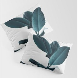 Ficus King Size Pillow Sham by Andreas12 - STANDARD SET OF 2 - Cotton