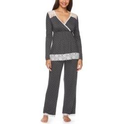 Lamaze Maternity Intimates Women's Sleep Bottoms Graphite - Graphite Polka Dot Lace Maternity/Nursing Pajama Set found on Bargain Bro India from zulily.com for $21.99