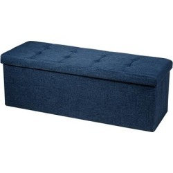 Costway Fabric Folding Storage Ottoman Storage Chest W/Divider Bed End found on Bargain Bro from Overstock for USD $66.87