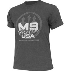BerettaUSA   M9 Trident T-Shirt in Heather Charcoal, Cotton/Synthetic Fiber, Size: 2XL