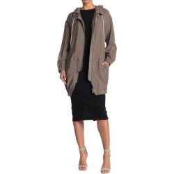 Calla Hooded Parka - Natural - AllSaints Coats found on Bargain Bro from lyst.com for USD $152.00