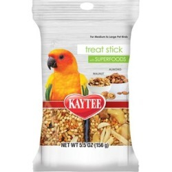 Kaytee Walnut and Almonds Avian Treat Stick with Superfood, 5.5 oz. found on Bargain Bro Philippines from petco.com for $6.99