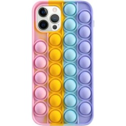 Shou Cellular Phone Cases Pink - Pink & Purple Stress-Relief Squishy Silicone Phone Case found on Bargain Bro from zulily.com for USD $7.59