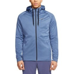 Nike Mens Sweater Blue Faze Size Large L Zip Up Dri Fit Hooded Therma found on MODAPINS from Overstock for USD $38.98