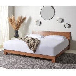 Safavieh Couture Lottie Wood Platform Bed found on Bargain Bro from Overstock for USD $841.69