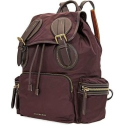 Mens Backpack Burgundy Nylon Equestrian Rucksack - Red - Burberry Backpacks found on Bargain Bro from lyst.com for USD $752.40