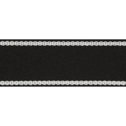 Schumacher Indoor-Outdoor Trims Sullivan Fabric in Black, Size 36.0 H x 2.0 W in | Wayfair 72405 found on Bargain Bro Philippines from Wayfair for $45.10