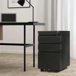 Inbox Zero MOBILE CABINET A Metal/Steel in Black, Size 24.0 H x 15.0 W x 20.0 D in | Wayfair AF29E0FC09384B91BC31552BBC9CFD5E found on Bargain Bro Philippines from Wayfair for $289.99