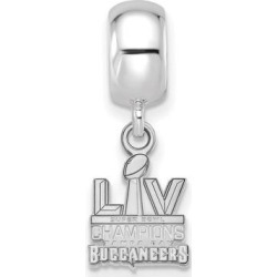 Women's Tampa Bay Buccaneers Silver Super Bowl LV Champions Dangle Bead found on Bargain Bro from nflshop.com for USD $50.78