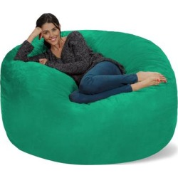 Bean Bag Chair 5-foot Memory Foam Removable Cover Bean Bags found on Bargain Bro from Overstock for USD $162.10