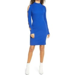 Mock Neck Long Sleeve Sweater Dress - Blue - Bebe Dresses found on Bargain Bro Philippines from lyst.com for $139.00
