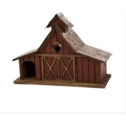 Glitzhome Extra-Large Rustic Wood Barn Bird House, 20.67-in