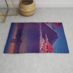 Modern Throw Rug | A Sunset For Hara by Kijiermono - 2' x 3' - Society6 found on Bargain Bro India from Society6 for $34.30