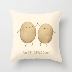 Couch Throw Pillow | Best Spuddies by Sophie Corrigan - Cover (16