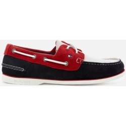 Classic Suede Boat Shoes - Blue - Tommy Hilfiger Slip-Ons found on Bargain Bro from lyst.com for USD $62.32