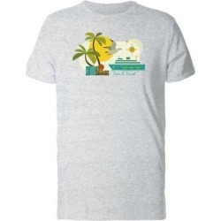 Time To Travel Beach Landscape Tee Men's -Image by Shutterstock (XL), Gray found on Bargain Bro from Overstock for USD $10.82