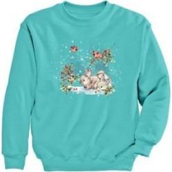 Women's Graphic Sweatshirt-Friends, Scuba Blue/Friends M Misses found on Bargain Bro Philippines from Blair.com for $24.99